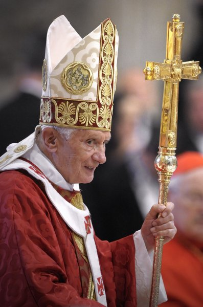 Pope Benedict XVI's butler faces a charge of aggravated theft in the leaking of the pope's personal papers to a journalist, Vatican officials said Monday. June 29 file photo. UPI/Stefano Spaziani