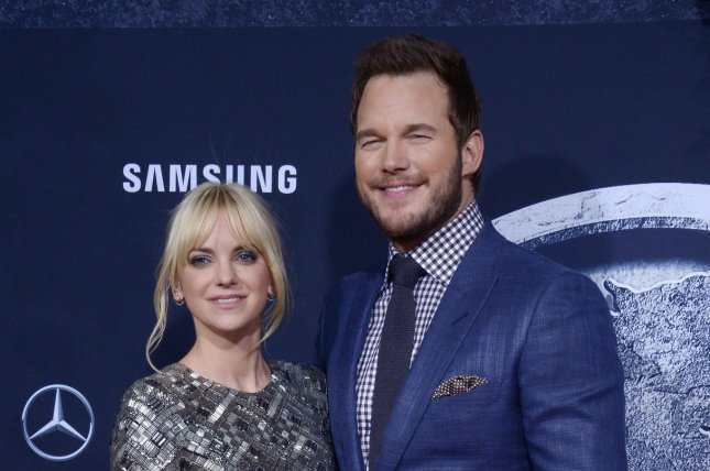 Anna Faris (L) and husband Chris Pratt at the Los Angeles premiere of 'Jurassic World' on June 9, 2015. The actress said this week she fell for Pratt because he's kind. File Photo by Jim Ruymen/UPI