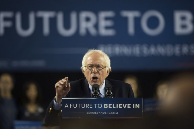 Democratic presidential candidate Bernie Sanders speaks during a rally in Baltimore last week. Sanders has withdrawn a lawsuit against the Democratic National Committee stemming from a voter identification data breach. Photo by Molly Riley/UPI