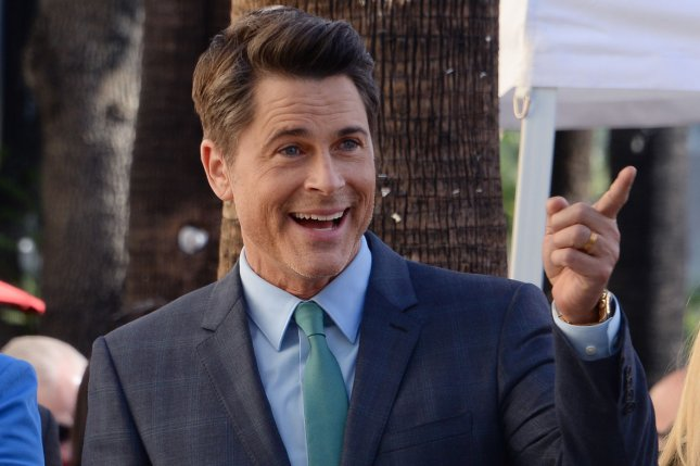Actor Rob Lowe acknowledges fans during an unveiling ceremony honoring him with the 2,567th star on the Hollywood Walk of Fame in Los Angeles on December 8, 2015. File Photo by Jim Ruymen/UPI