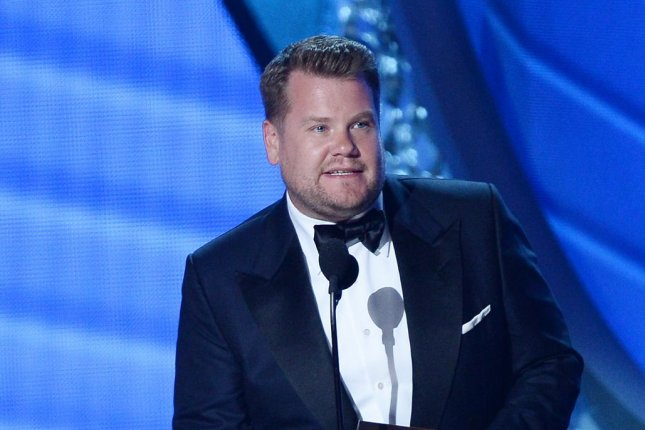 Late Late Show host and new Peter Rabbit voice star James Corden speaks onstage during the 68th annual Primetime Emmy Awards in Los Angeles on September 18, 2016. Photo by Jim Ruymen/UPI