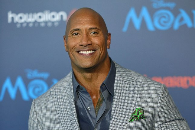 Dwayne Johnson at the Los Angeles premiere of Moana on November 14, 2016. The actor will play Black Adam in Shazam. File Photo by Christine Chew/UPI