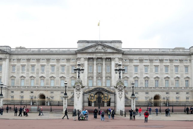 A man was arrested after charging at officers while brandishing a 4-foot sword outside Buckingham Palace in London on Friday. Police said it was a terrorist incident. File Photo by Hugo Philpott/UPI