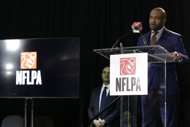 NFLPA executive director DeMaurice Smith said Jan. 30 that the players union's labor agreement discussions are family business. File Photo by John Angelillo/UPI