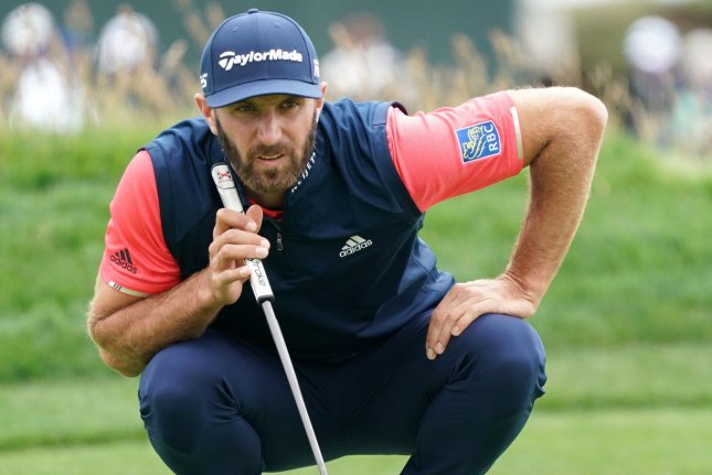 Dustin Johnson's abrupt withdrawal Monday night from the 2021 AT&T Pebble Beach Pro-Am means that no Top-10 players will compete this weekend in Pebble Beach, Calif. FilePhoto by Kevin Dietsch/UPI