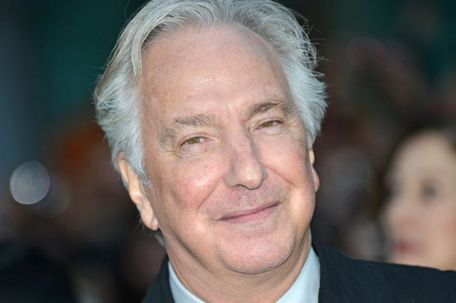 Late director and actor Alan Rickman, seen here in 2014, can be heard in a voice over in the latest trailer from Disney's Alice in Wonderland: Through the Looking Glass. File Photo by Christine Chew/UPI