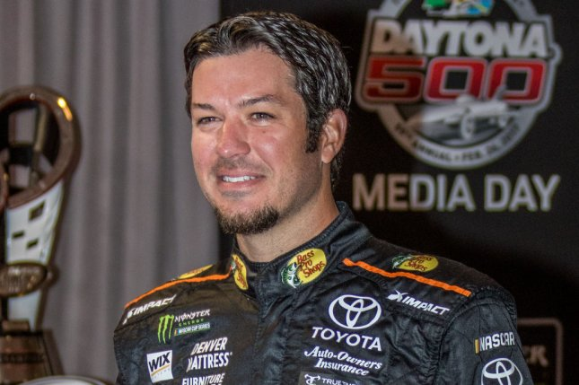 2016 Daytona 500 Runner-up Martin Truex Jr. waits to answer questions at Daytona 500 Media Day on February 22, 2017 in Daytona, Florida. File photo by Edwin Locke/UPI