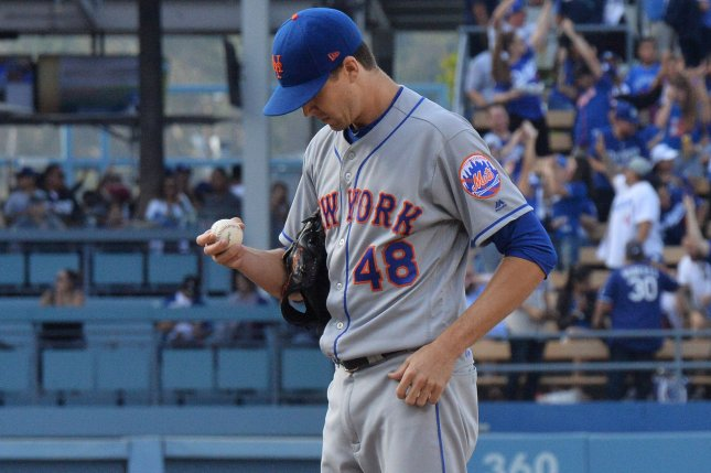 New York Mets starting pitcher Jacob deGrom made his second All-Star team and won his first Cy Young Award after leading baseball in ERA in 2018. He will take the hill on opening day against the Washington Nationals Thursday in Washington, D.C. File Photo by Jim Ruymen/UPI