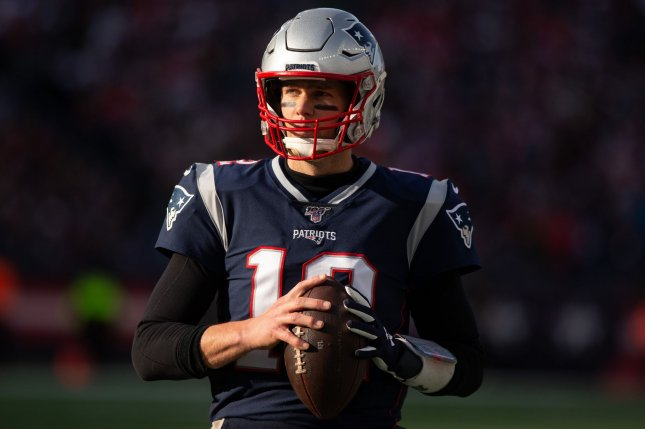 Tom Brady has spent his entire 20-year NFL career with the New England Patriots. Photo by Matthew Healey/UPI