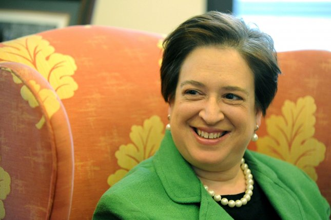 Supreme Court nominee Elena Kagan meets with Sen. Sheldon Whitehouse (D-RI) in his office on Capitol Hill in Washington on May 18, 2010. UPI/Kevin Dietsch