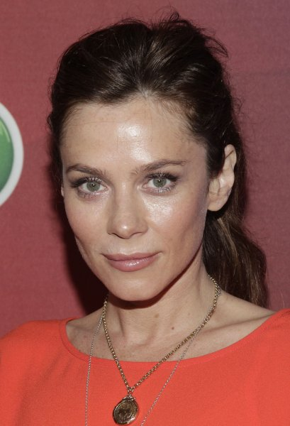Anna Friel arrives on the red carpet at NBC's Upfront Presentation in New York City on May 12, 2014. The actress has begun filming Season 2 of her ITV drama Marcella. File Photo by John Angelillo/UPI