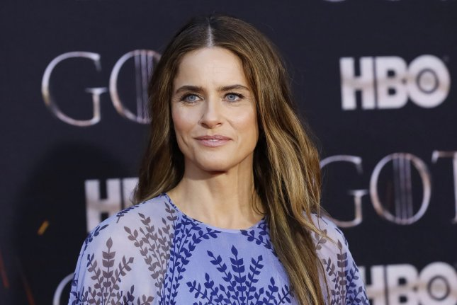 Amanda Peet arrives on the red carpet at the Season 8 premiere of Game of Thrones at Radio City Music Hall on April 3 in New York City. The actor turns 48 on January 11. File Photo by John Angelillo/UPI