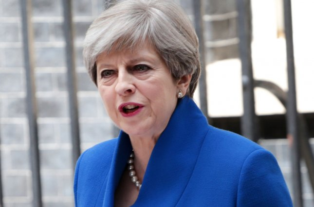 Britain's Prime Minister Theresa May was labeled a dead woman walking by former Chancellor of the Exchequer George Osborne. File Photo by Hugo Philpott/UPI