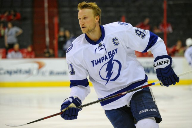 Steven Stamkos and the Tampa Bay Lightning take on the Philadelphia Flyers on Thursday. Photo by Mark Goldman/UPI