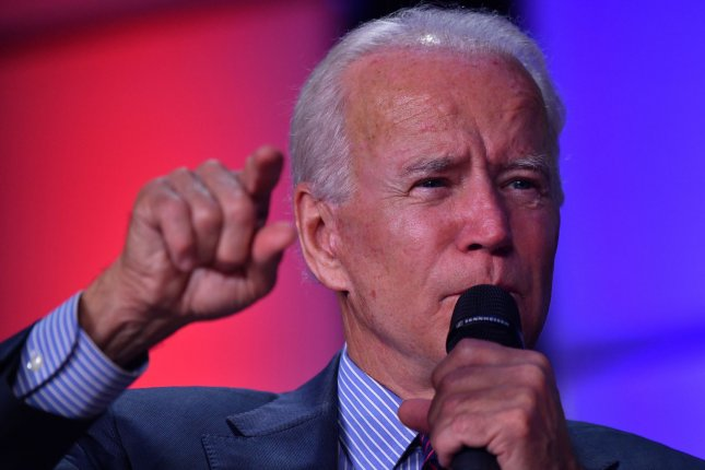 Democratic presidential hopeful Vice President Joe Biden, shown here speaking in South Carolina in October, introduced a $1.3 trillion infrastructure plan Thursday. Photo by Richard Ellis/UPI