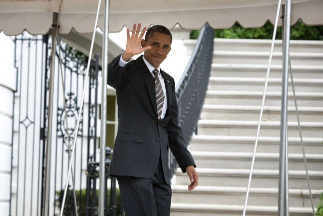 President Barack Obama departs the White House in Washington, D.C., on September 25, 2011. UPI/Joshua Roberts/Pool
