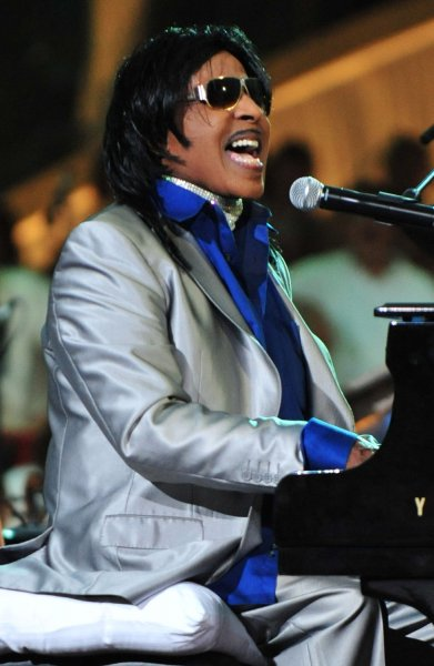 Little Richard performs during a rehearsal for A Capitol Fourth concert on the National Mall in Washington, D.C. on July 3, 2011. UPI/Kevin Dietsch