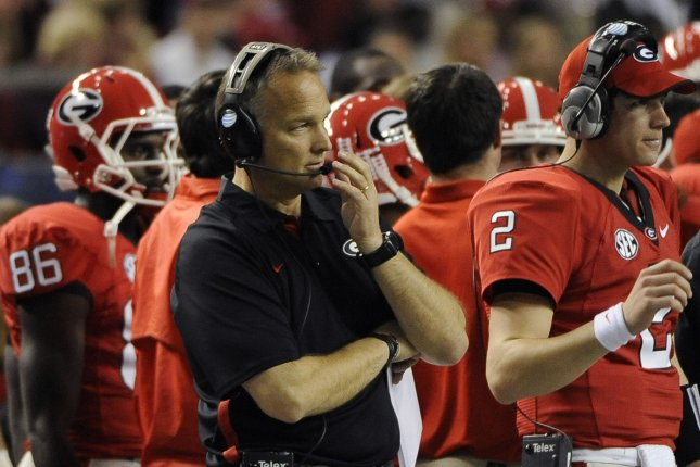 Former Georgia Bulldogs head coach Mark Richt will become the next head football coach at the University of Miami, according to various sources. Richt was fired by Georgia Monday after compiling a 9-3 record this season and a 145-51 record during his 15 seasons in Athens, Ga. Photo by David Tulis/UPI