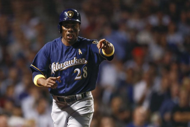 Former Milwaukee Brewers outfielder Curtis Granderson recorded 344 home runs and 937 RBIs in his MLB career. File Photo by Kamil Krzaczynski/UPI
