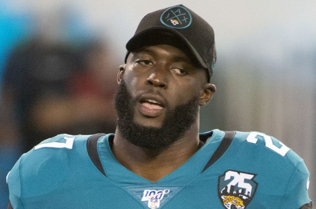Former Jacksonville Jaguars running back Leonard Fournette can be claimed by any of the NFL's 31 other teams after he was waived Monday morning. File Photo by Joe Marino/UPI