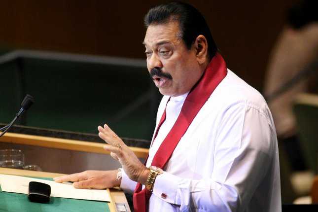 Sri Lanka's President Mahinda Rajapaksa speaks at the 65th session of the United Nations General Assembly at the UN on September 23, 2010 in New York. UPI/Monika Graff