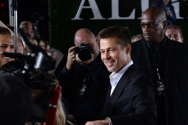 Brad Pitt at the Los Angeles premiere of Allied on Wednesday. Photo by Jim Ruymen/UPI