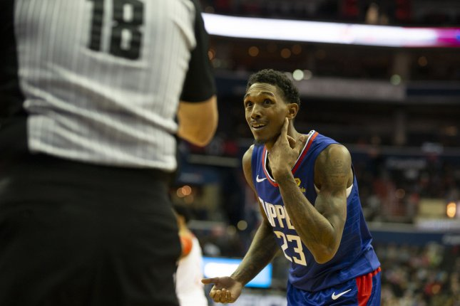 Los Angeles Clippers guard Lou Williams came off the bench to score 25 points and hit the game-winning shot in a win against the Brooklyn Nets Sunday in Los Angeles. File Photo by Alex Edelman/UPI