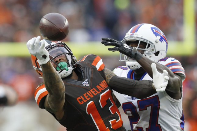 Cleveland Browns wide receiver Odell Beckham Jr. (13) had five catches for 57 yards in a win against the Buffalo Bills Sunday in Cleveland. Photo by Aaron Josefczyk/UPI