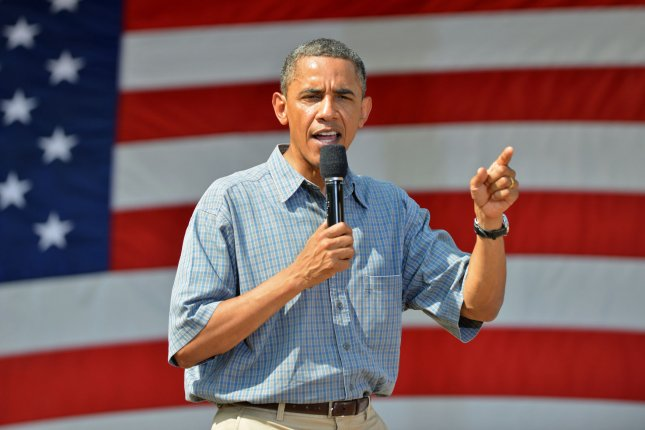 President Barack Obama, on a two-day campaign bus trip, speaks July 5, 2012, at an event in Sandusky, Ohio. UPI/Kevin Dietsch