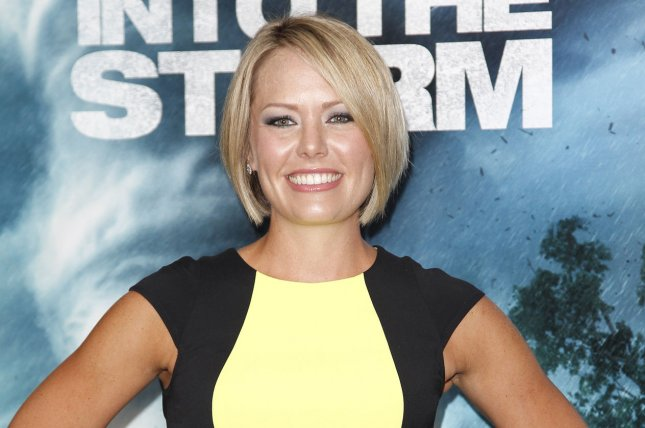 Dylan Dreyer at the New York premiere of Into the Storm on August 4, 2014. The meteorologist welcomed her first child over the weekend. File Photo by John Angelillo/UPI