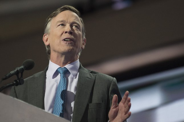 Colorado Gov. John Hickenlooper speaks during Day four of the Democratic National Convention at Wells Fargo Center in Philadelphia, Pennsylvania on July 28, 2016. Photo by Pete Marovich/UPI