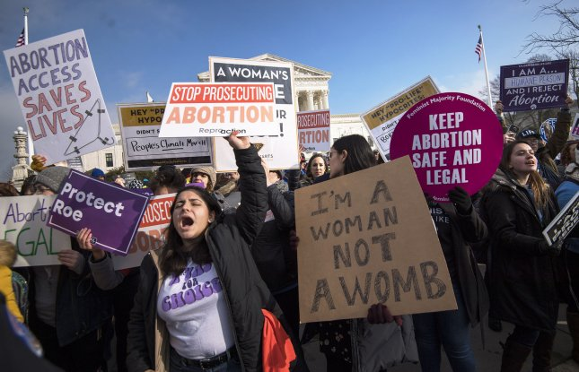 Abortion advocates and anti-abortion activists square off at the Supreme Court during the March for Life anti-abortion rally, in Washington, D.C. on January 18, 2019. A federal judge in Washington state issued a nationwide injunction against a Trump administration ban on abortion referrals. File Photo by Kevin Dietsch/UPI