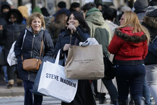 U.S. consumer spending rose in March at the highest rate since 2010, the U.S. Commerce Department said Monday. File Photo by John Angelillo/UPI