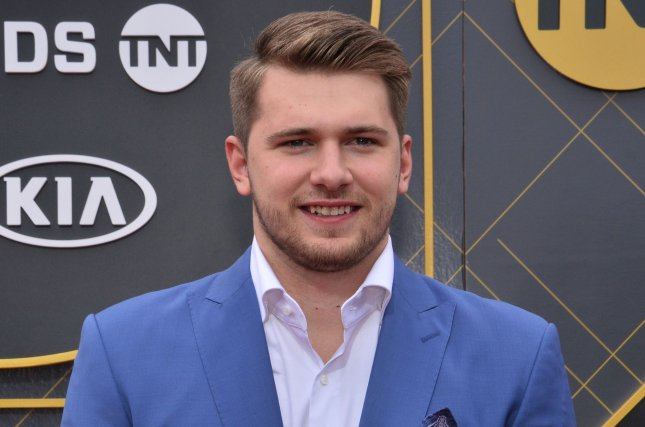 Dallas Mavericks star Luka Doncic attends the 3rd annual NBA Awards in June 2019. Doncic will be featured on the cover of NBA 2K22. File Photo by Jim Ruymen/UPI