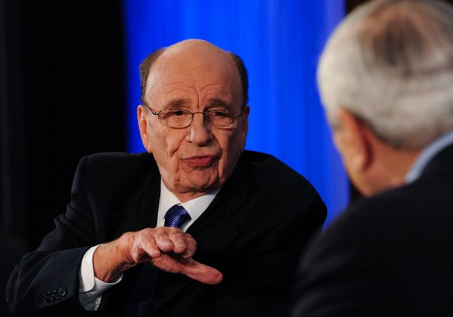 Media mogul Rupert Murdoch told a panel probing the British phone-hacking scandal he was misled and thought at least one person was covering up the situation. 2010 file photo. UPI/Alexis C. Glenn