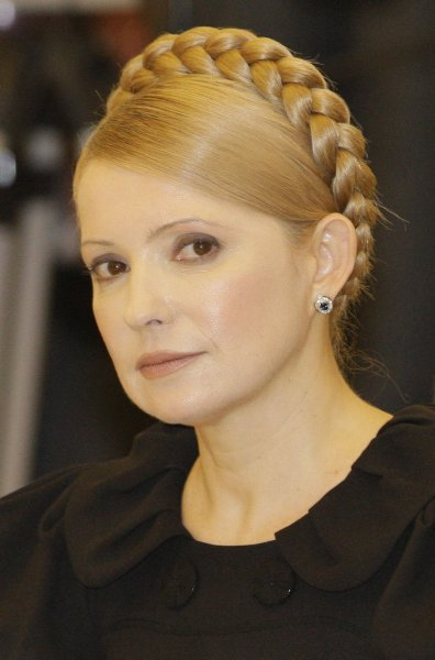 Ukrainian Prime Minister Yulia Tymoshenko attends an international meeting on the European gas crisis in Moscow on January 17, 2009. (UPI Photo/Anatoli Zhdanov)