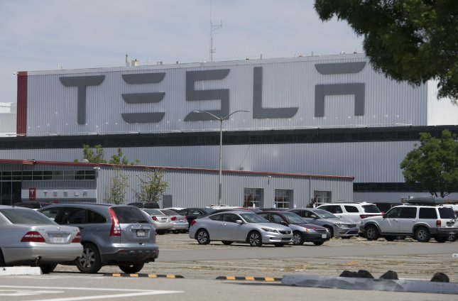 Tesla on Wednesday dropped a lawsuit against California's Alameda County after it allowed the company to resume production amid easing of restrictions to prevent the spread of COVID-19. Photo by Terry Schmitt/UPI
