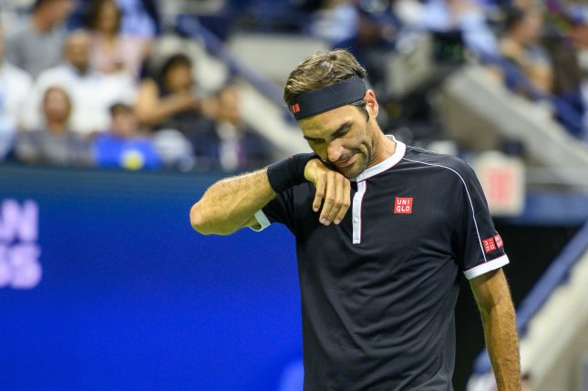 Roger Federer will miss the 2020 French Open and U.S. Open -- if they are played -- as he recovers from a right knee injury. File Photo by Corey Sipkin/UPI