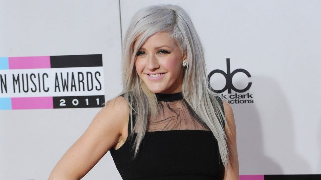 Singer Ellie Goulding arrives at the 39th American Music Awards. Goulding was spotted with Niall Horan watching Kings of Leon. UPI/Jim Ruymen