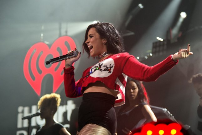 Singer Demi Lovato performs on stage at the Y100 JingleBall 2015 concert on December 18, 2015 in Sunrise, Fla. File Photo by Gary I Rothstein/UPI
