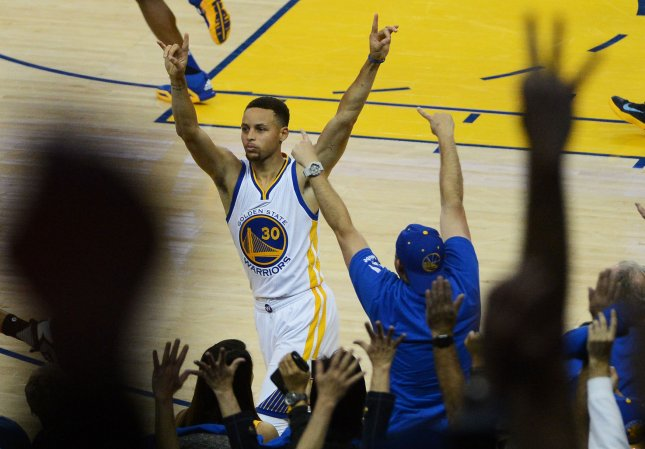 Golden State Warriors Stephen Curry has been named the NBA's most valuable player. The vote was unanimous. File photo by Terry Schmitt/UPI