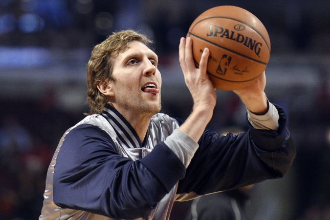 Dirk Nowitzki led the Mavs with 23 points as Dallas scored a 111-104 win over the Brooklyn Nets on Sunday night. File Photo by Brian Kersey/UPI