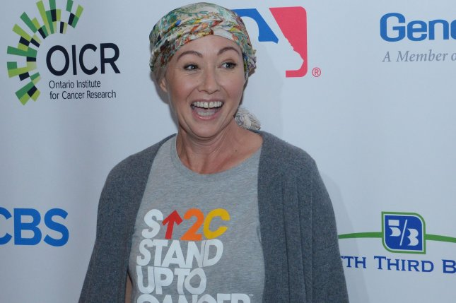 Shannen Doherty attends the 5th biennial Stand Up to Cancer televised fundraising event in Los Angeles on September 9, 2016. The actress, who has been battling cancer, said Friday she is in remission. File Photo by Jim Ruymen/UPI