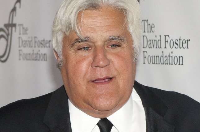 Jay Leno is confirmed as a performer for Friday's Vegas Strong Benefit Concert. File Photo by Heinz Ruckemann/UPI
