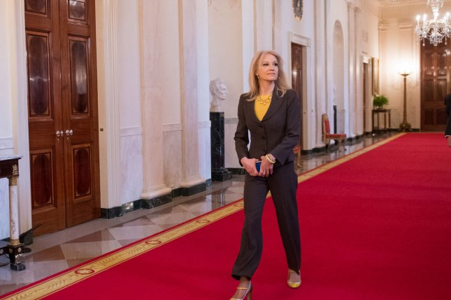 The House Oversight Committee has called for a subpoena regarding presidential advisor Kellyanne Conway's failure to reimburse the government for private flights she took alongside former Health and Human Services Secretary Tom Price. Photo by Kevin Dietsch/UPI