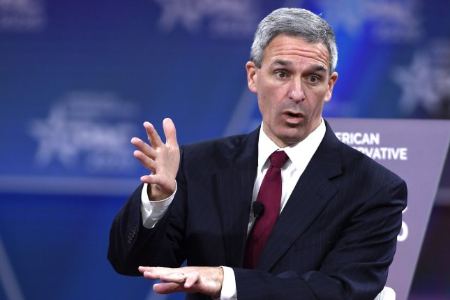 Acting director of U.S. Citizenship and Immigration Ken Cuccinelli said Monday he will appeal a federal judge's ruling a day earlier that his appointment to the post was unlawful. File Photo by Mike Theiler/UPI