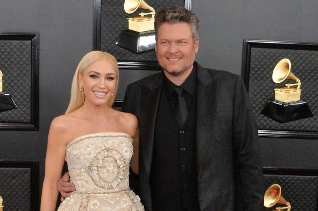 Gwen Stefani (L) and Blake Shelton will take the stage during the NBC's New Year's Eve 2021 special. File Photo by Jim Ruymen/UPI