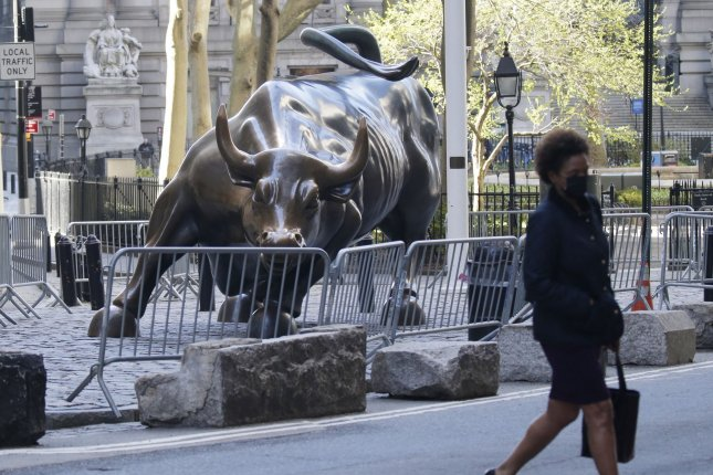 The Nasdaq Composite hit an all-time closing high Monday, rising 0.74% to14,174.14. File Photo by John Angelillo/UPI