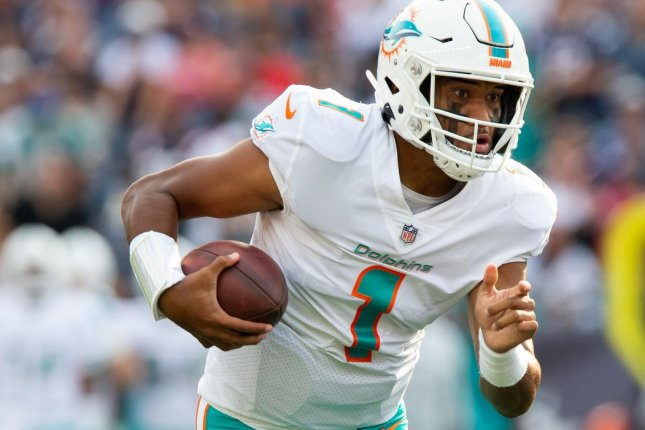 Dolphins QB Tua Tagovailoa carted off after hard hit from Bills