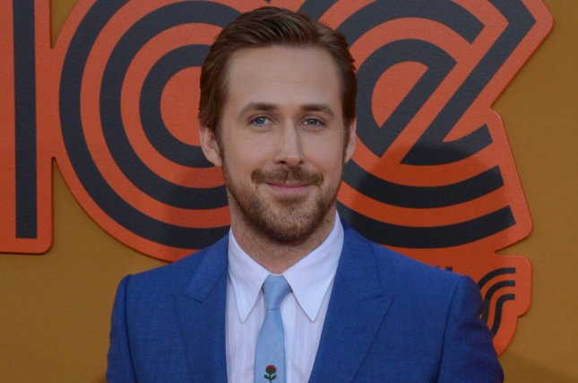 Ryan Gosling at the Los Angeles premiere of The Nice Guys on Tuesday. File Photo by Jim Ruymen/UPI